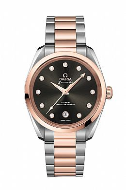New Seamaster Aqua Terra LADIES Steel-Sedna Gold
