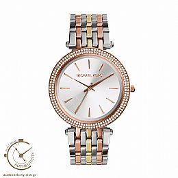 Darci Crystals Tri Tone Stainless Steel Watch