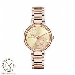 Courtney Rose Gold Stainless Steel Watch